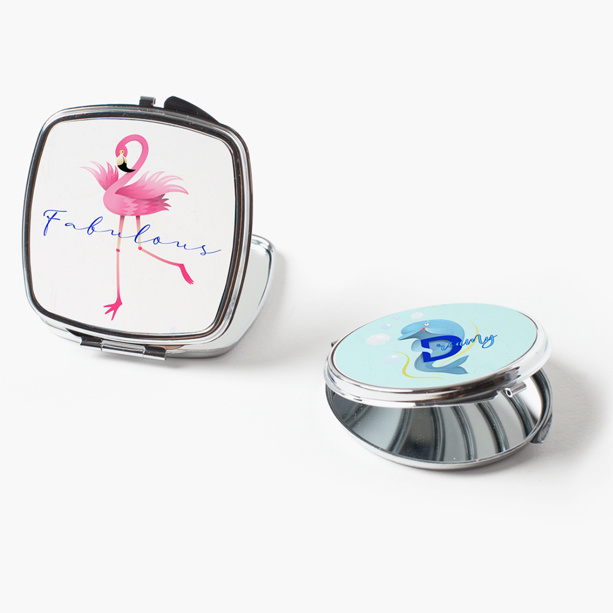 Print On Demand Compact Mirrors With